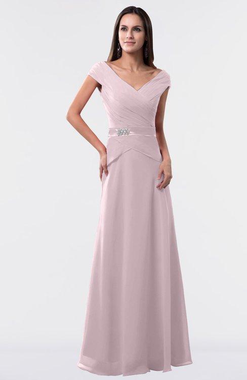 ColsBM Madelyn Pale Lilac Informal A-line Portrait Zipper Floor Length Ruching Plus Size Bridesmaid Dresses