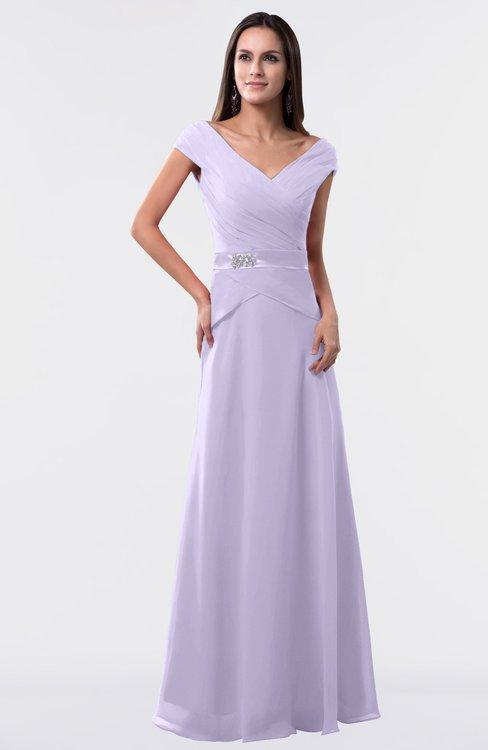 ColsBM Madelyn Pastel Lilac Informal A-line Portrait Zipper Floor Length Ruching Plus Size Bridesmaid Dresses