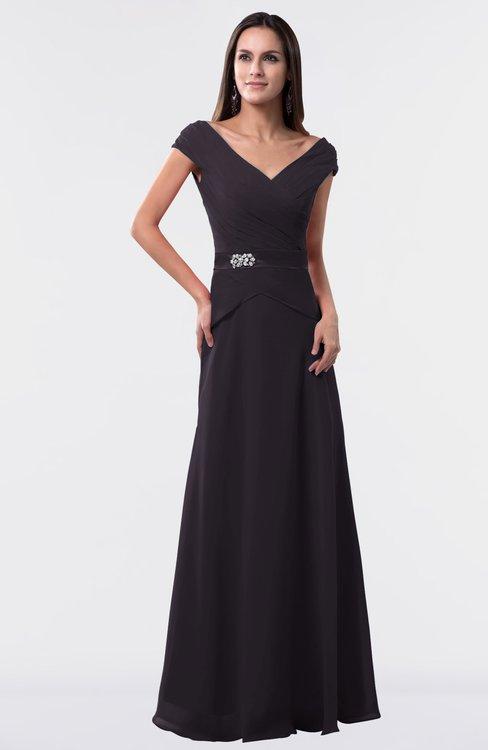 ColsBM Madelyn Perfect Plum Informal A-line Portrait Zipper Floor Length Ruching Plus Size Bridesmaid Dresses