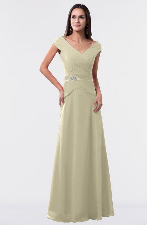 ColsBM Madelyn Putty Informal A-line Portrait Zipper Floor Length Ruching Plus Size Bridesmaid Dresses