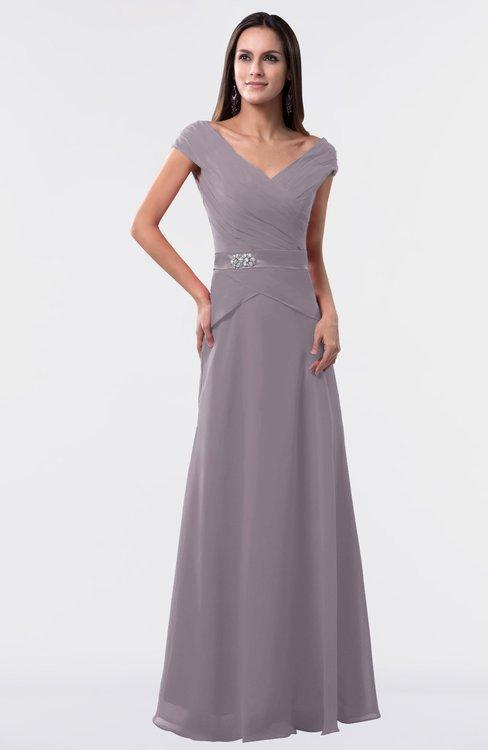 ColsBM Madelyn Sea Fog Informal A-line Portrait Zipper Floor Length Ruching Plus Size Bridesmaid Dresses