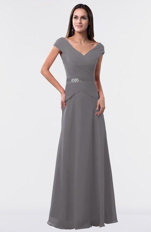ColsBM Madelyn Storm Front Informal A-line Portrait Zipper Floor Length Ruching Plus Size Bridesmaid Dresses