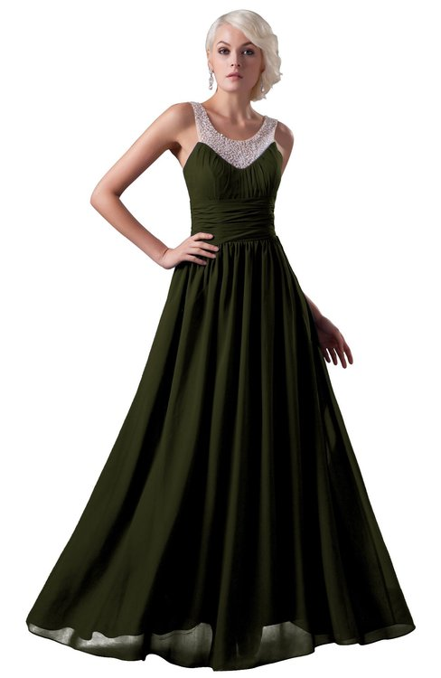 ColsBM Cora Beech Cute A-line Scoop Sleeveless Zipper Beading Plus Size Bridesmaid Dresses