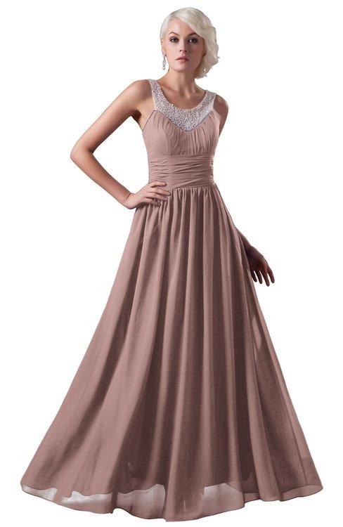 ColsBM Cora Blush Pink Cute A-line Scoop Sleeveless Zipper Beading Plus Size Bridesmaid Dresses