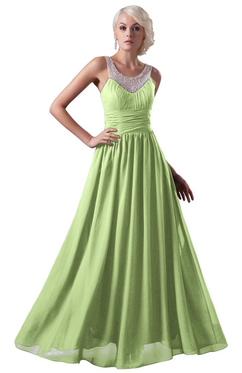 ColsBM Cora Butterfly Cute A-line Scoop Sleeveless Zipper Beading Plus Size Bridesmaid Dresses