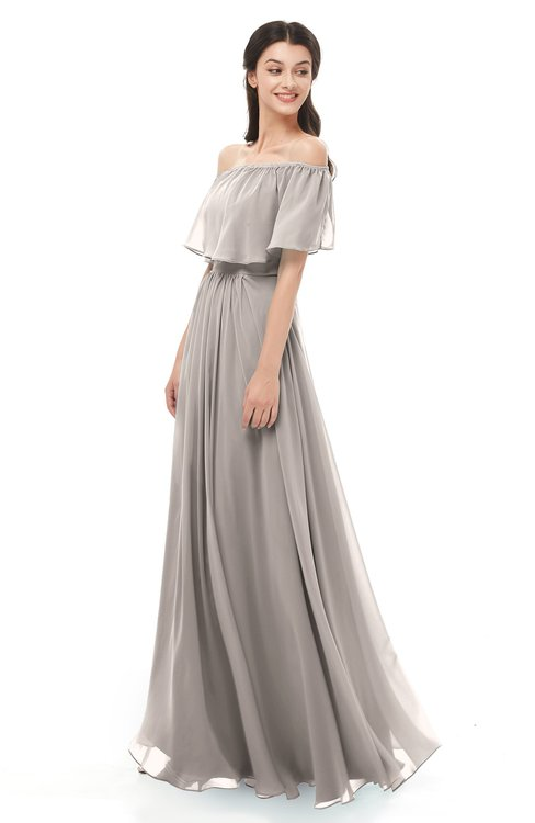 ColsBM Hana Mushroom Bridesmaid Dresses Romantic Short Sleeve Floor Length Pleated A-line Off The Shoulder