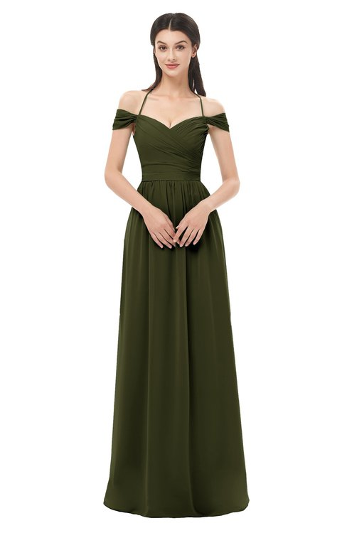 ColsBM Amirah Beech Bridesmaid Dresses Halter Zip up Pleated Floor Length Elegant Short Sleeve