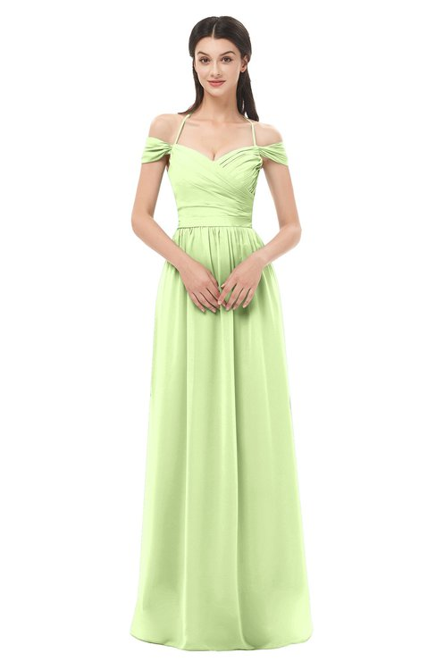 ColsBM Amirah Butterfly Bridesmaid Dresses Halter Zip up Pleated Floor Length Elegant Short Sleeve