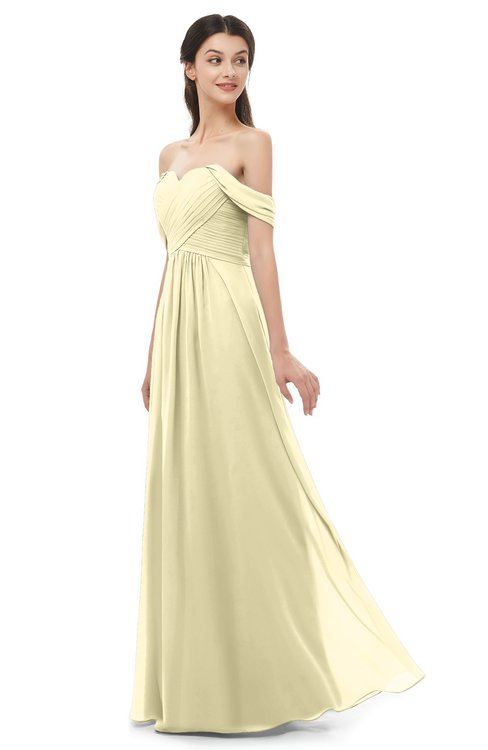 ColsBM Sylvia Anise Flower Bridesmaid Dresses Mature Floor Length Sweetheart Ruching A-line Zip up