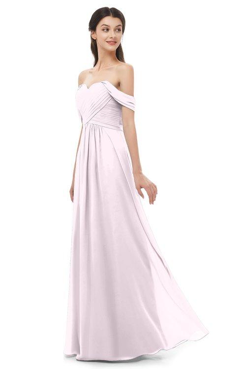 ColsBM Sylvia Blush Bridesmaid Dresses Mature Floor Length Sweetheart Ruching A-line Zip up