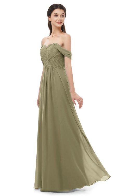 ColsBM Sylvia Boa Bridesmaid Dresses Mature Floor Length Sweetheart Ruching A-line Zip up