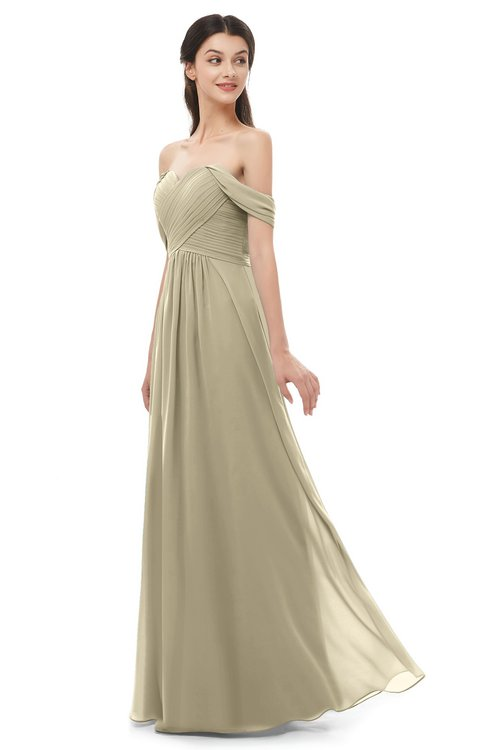 ColsBM Sylvia Candied Ginger Bridesmaid Dresses Mature Floor Length Sweetheart Ruching A-line Zip up