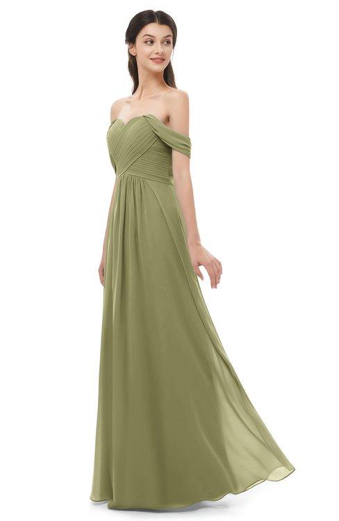 ColsBM Sylvia Cedar Bridesmaid Dresses Mature Floor Length Sweetheart Ruching A-line Zip up