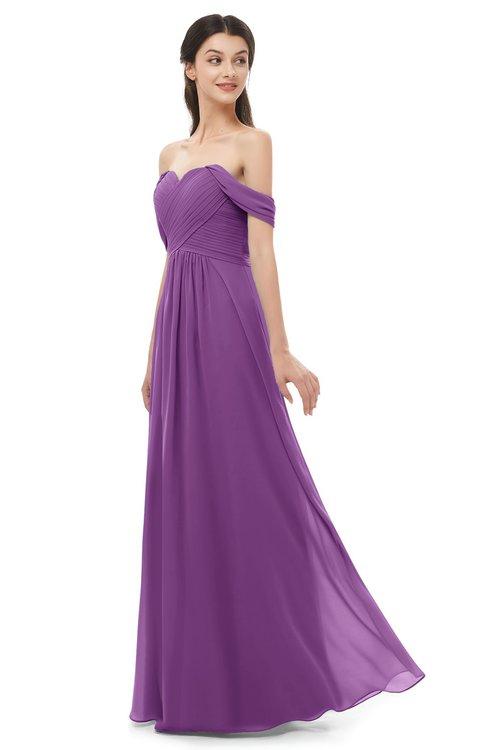 ColsBM Sylvia Dahlia Bridesmaid Dresses Mature Floor Length Sweetheart Ruching A-line Zip up