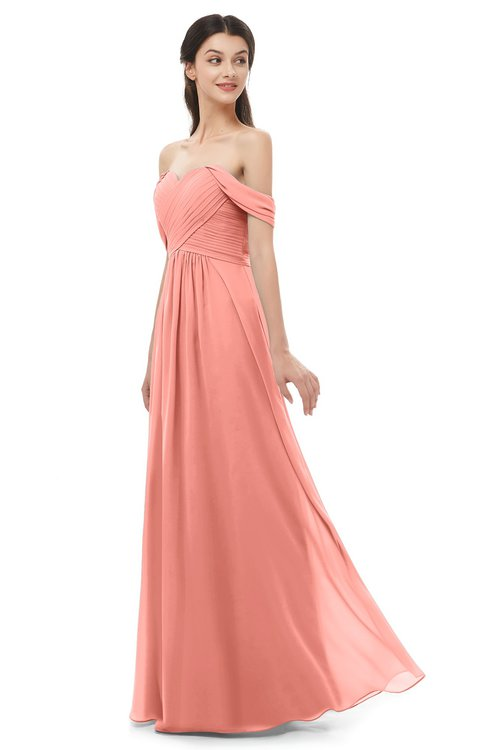 ColsBM Sylvia Desert Flower Bridesmaid Dresses Mature Floor Length Sweetheart Ruching A-line Zip up