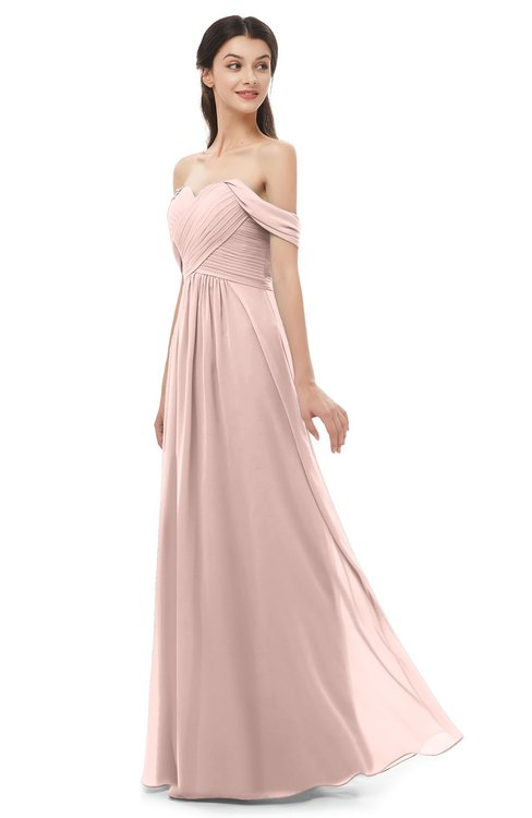 ColsBM Sylvia Dusty Rose Bridesmaid Dresses Mature Floor Length Sweetheart Ruching A-line Zip up