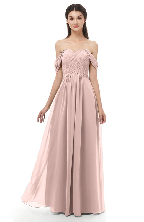 2ced7245c4 ... ColsBM Sylvia Dusty Rose Bridesmaid Dresses Mature Floor Length  Sweetheart Ruching A-line Zip up ...
