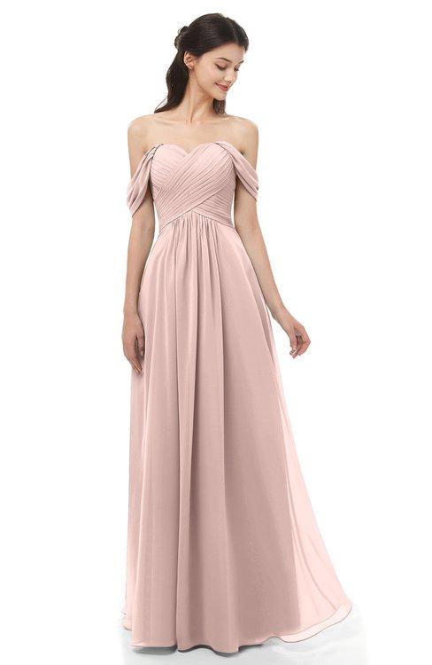 46c92bb7e3 ... ColsBM Sylvia Dusty Rose Bridesmaid Dresses Mature Floor Length  Sweetheart Ruching A-line Zip up