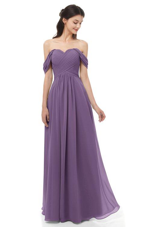 d6ed8174ca ... ColsBM Sylvia Eggplant Bridesmaid Dresses Mature Floor Length Sweetheart  Ruching A-line Zip up