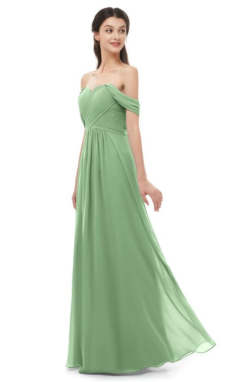ColsBM Sylvia Fair Green Bridesmaid Dresses Mature Floor Length Sweetheart Ruching A-line Zip up
