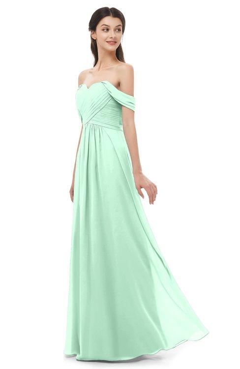 ColsBM Sylvia Honeydew Bridesmaid Dresses Mature Floor Length Sweetheart Ruching A-line Zip up