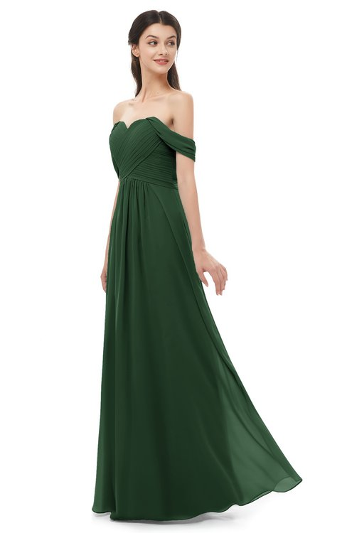 ColsBM Sylvia Hunter Green Bridesmaid Dresses Mature Floor Length Sweetheart Ruching A-line Zip up