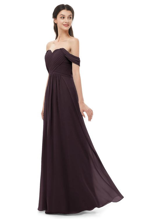 ColsBM Sylvia Italian Plum Bridesmaid Dresses Mature Floor Length Sweetheart Ruching A-line Zip up