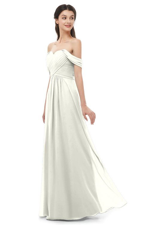 ColsBM Sylvia Ivory Bridesmaid Dresses Mature Floor Length Sweetheart Ruching A-line Zip up