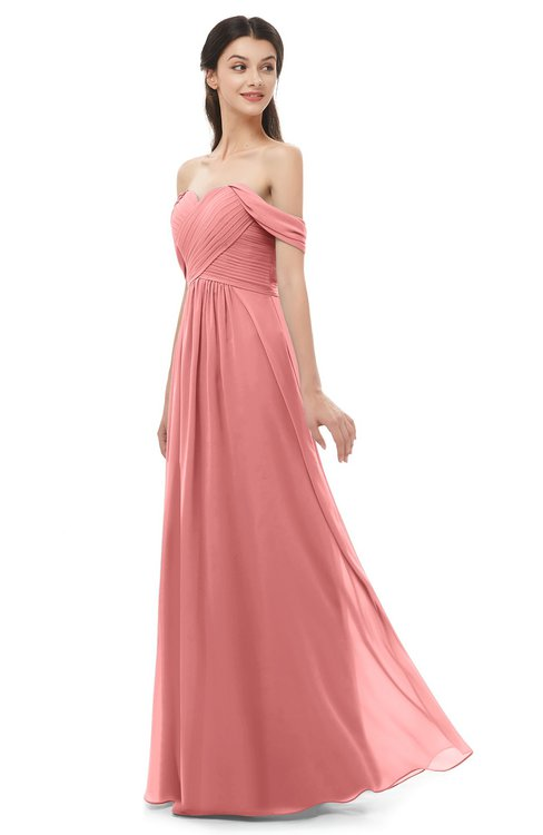 ColsBM Sylvia Lantana Bridesmaid Dresses Mature Floor Length Sweetheart Ruching A-line Zip up