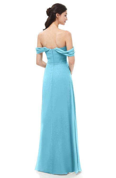 a481467784 ... ColsBM Sylvia Light Blue Bridesmaid Dresses Mature Floor Length  Sweetheart Ruching A-line Zip up ...