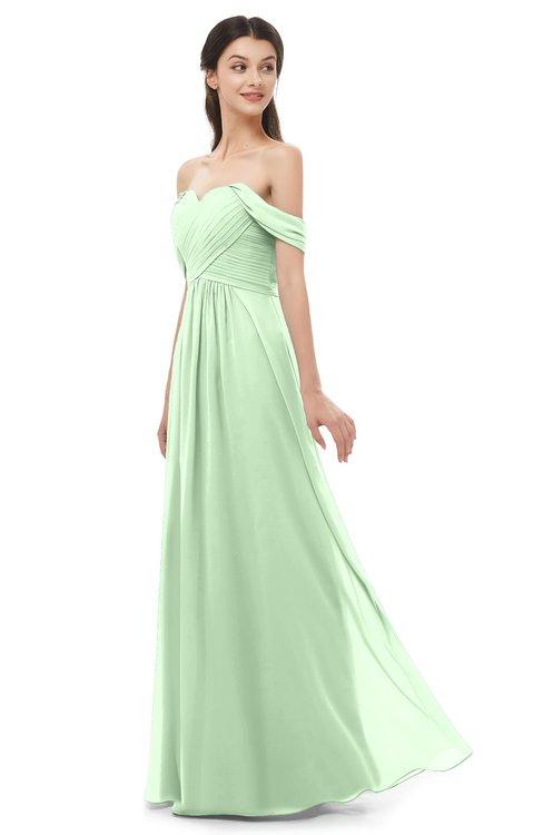 ColsBM Sylvia Light Green Bridesmaid Dresses Mature Floor Length Sweetheart Ruching A-line Zip up