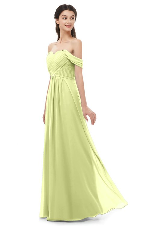 ColsBM Sylvia Lime Green Bridesmaid Dresses Mature Floor Length Sweetheart Ruching A-line Zip up