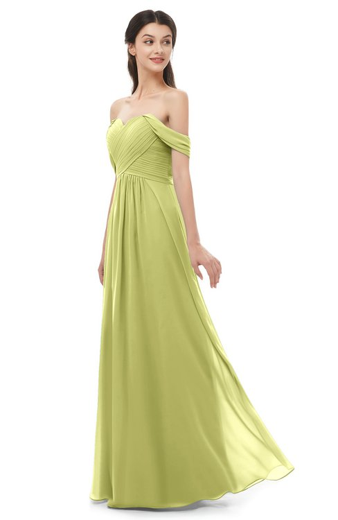 ColsBM Sylvia Linden Green Bridesmaid Dresses Mature Floor Length Sweetheart Ruching A-line Zip up