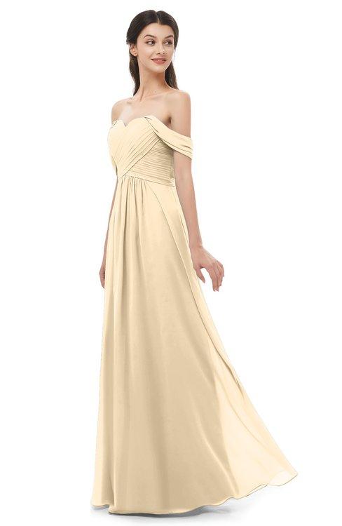 ColsBM Sylvia Marzipan Bridesmaid Dresses Mature Floor Length Sweetheart Ruching A-line Zip up
