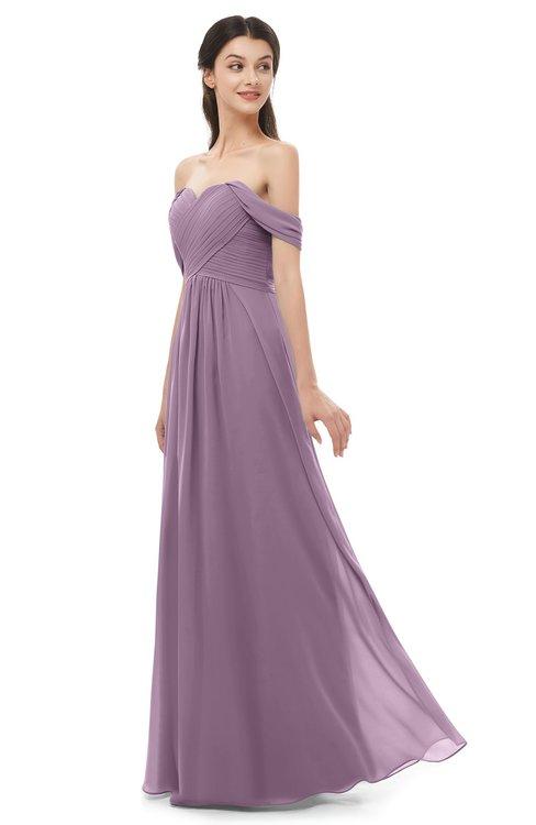 ColsBM Sylvia Mauve Bridesmaid Dresses Mature Floor Length Sweetheart Ruching A-line Zip up