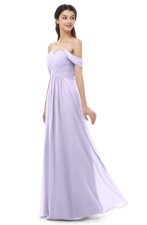 ColsBM Sylvia Pastel Lilac Bridesmaid Dresses Mature Floor Length Sweetheart Ruching A-line Zip up