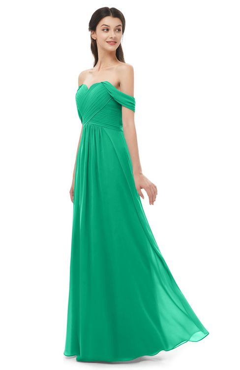 ColsBM Sylvia Pepper Green Bridesmaid Dresses Mature Floor Length Sweetheart Ruching A-line Zip up