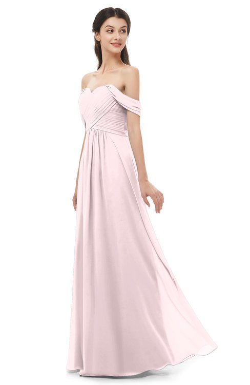 ColsBM Sylvia Petal Pink Bridesmaid Dresses Mature Floor Length Sweetheart Ruching A-line Zip up