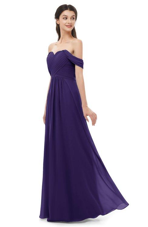 ColsBM Sylvia Royal Purple Bridesmaid Dresses Mature Floor Length Sweetheart Ruching A-line Zip up