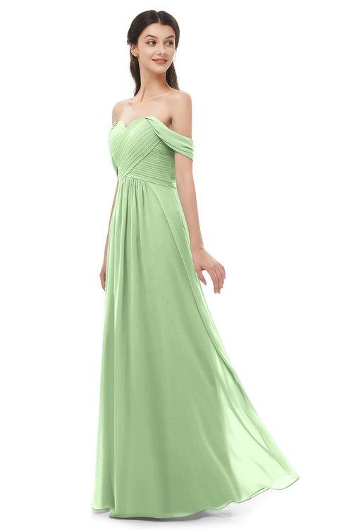 ColsBM Sylvia Sage Green Bridesmaid Dresses Mature Floor Length Sweetheart Ruching A-line Zip up