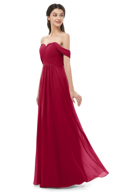 ColsBM Sylvia Scooter Bridesmaid Dresses Mature Floor Length Sweetheart Ruching A-line Zip up
