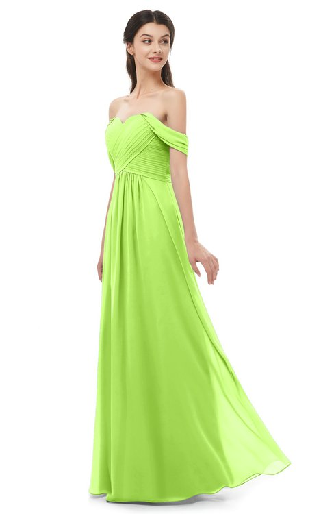 ColsBM Sylvia Sharp Green Bridesmaid Dresses Mature Floor Length Sweetheart Ruching A-line Zip up