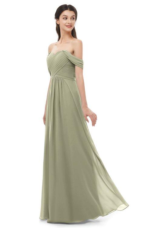 ColsBM Sylvia Sponge Bridesmaid Dresses Mature Floor Length Sweetheart Ruching A-line Zip up