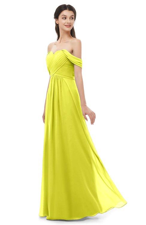 ColsBM Sylvia Sulphur Spring Bridesmaid Dresses Mature Floor Length Sweetheart Ruching A-line Zip up