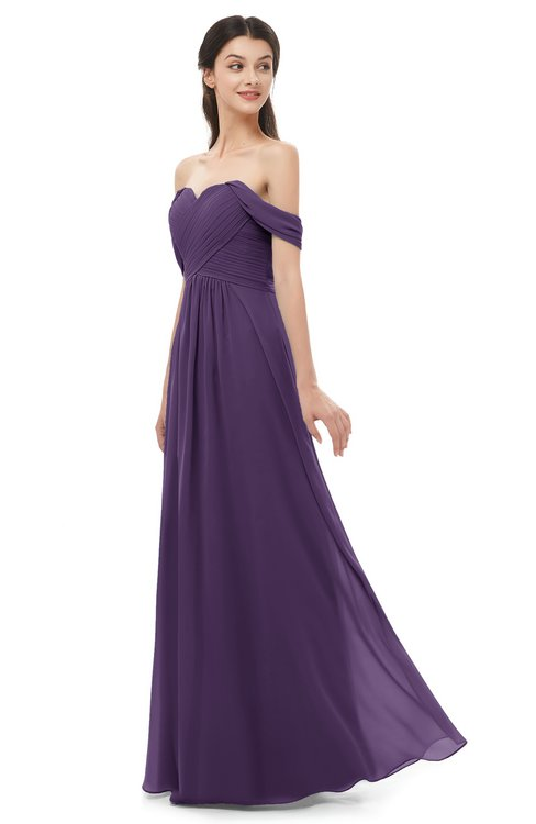 ColsBM Sylvia Violet Bridesmaid Dresses Mature Floor Length Sweetheart Ruching A-line Zip up