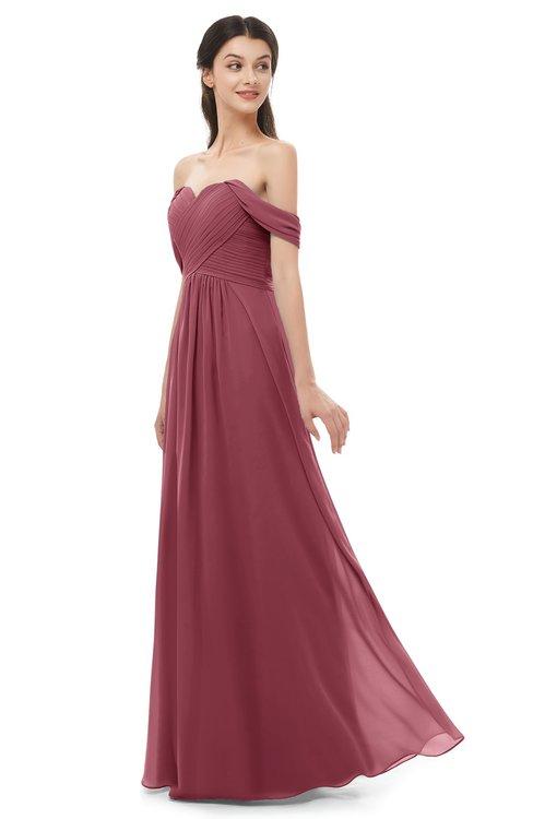 ColsBM Sylvia Wine Bridesmaid Dresses Mature Floor Length Sweetheart Ruching A-line Zip up