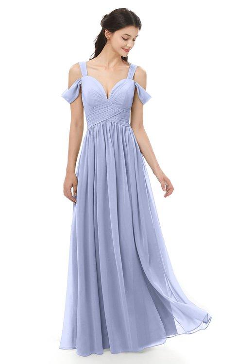 0db1469388c ... ColsBM Raven Lavender Bridesmaid Dresses Split-Front Modern Short  Sleeve Floor Length Thick Straps A ...