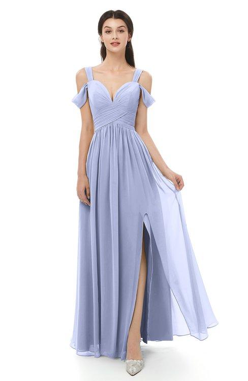 061a29d4136 ... ColsBM Raven Lavender Bridesmaid Dresses Split-Front Modern Short  Sleeve Floor Length Thick Straps A