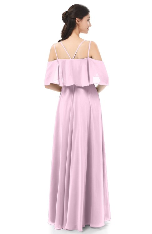 ebba8c37d4a ... ColsBM Jamie Baby Pink Bridesmaid Dresses Floor Length Pleated V-neck  Half Backless A- ...