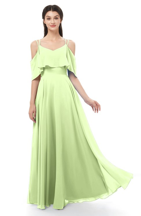 ColsBM Jamie Butterfly Bridesmaid Dresses Floor Length Pleated V-neck Half Backless A-line Modern